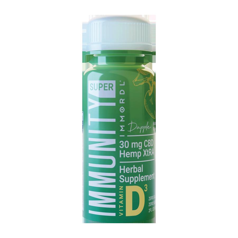 Super Immunity By Immordl 2oz 60Ml Herbal Supplement Shot Fortified With Vitamins C B1 & B6 & D3 30Mg Hemp Xtra