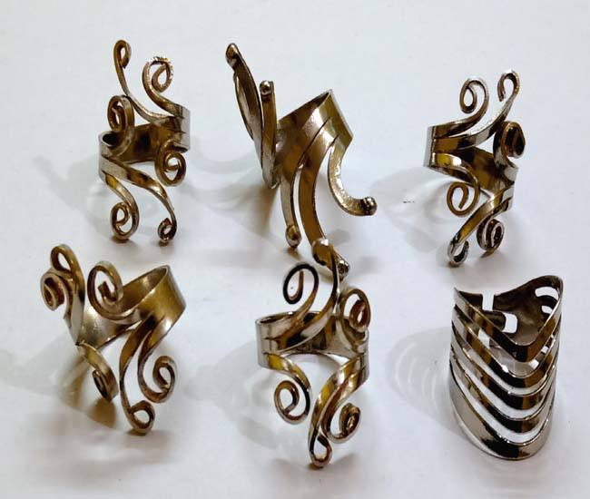 Designer Brass Finger Rings jewelry fashion costume imitation Artificial Indian Handmade handicrafts jewellery RG-1291