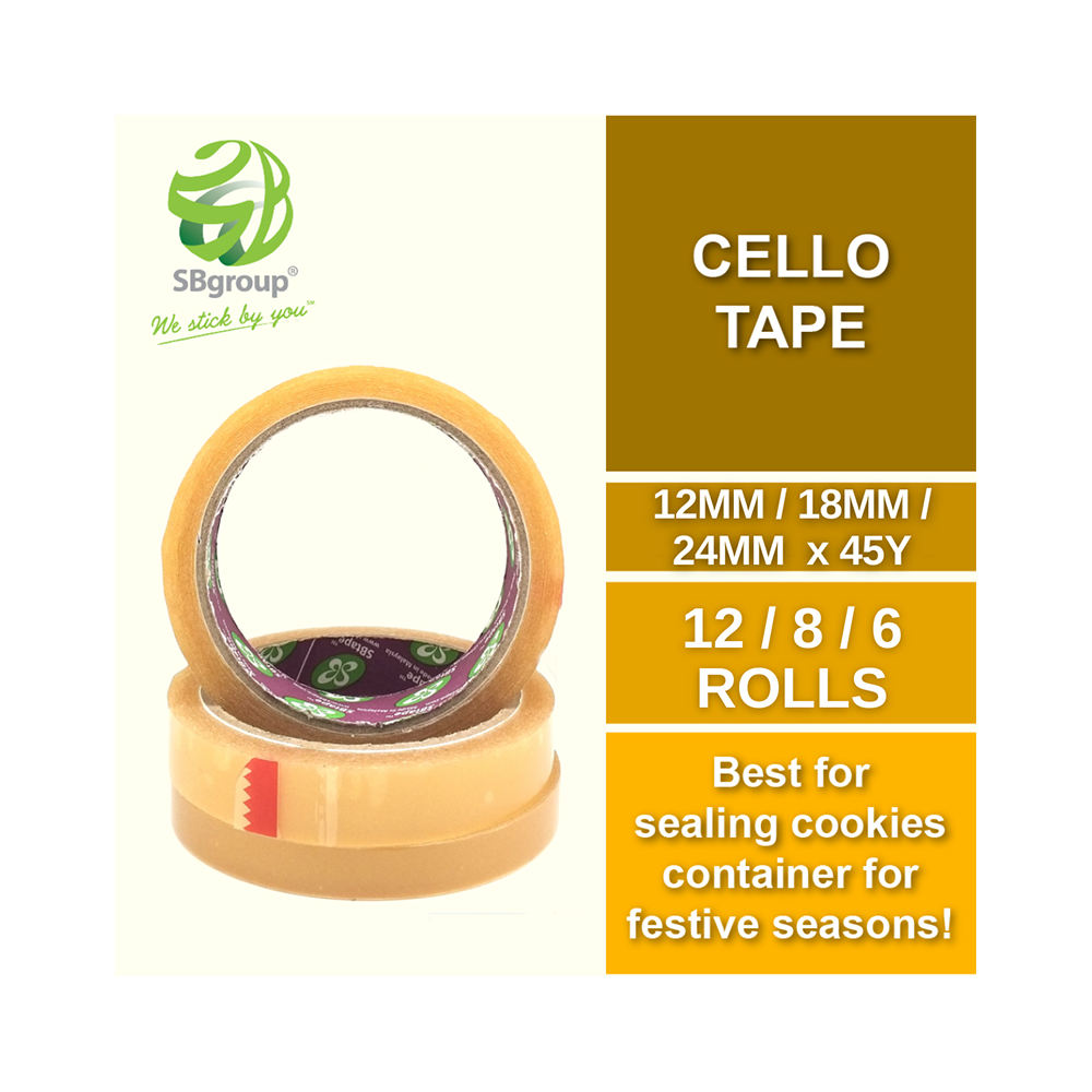 For Agriculture Business Made In Malaysia Cello Tape The Most Famous Single Sided OPP Tape