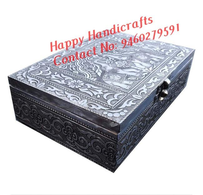 Indian wooden decorative beautiful hand painted hand carved home beautiful jewellery box