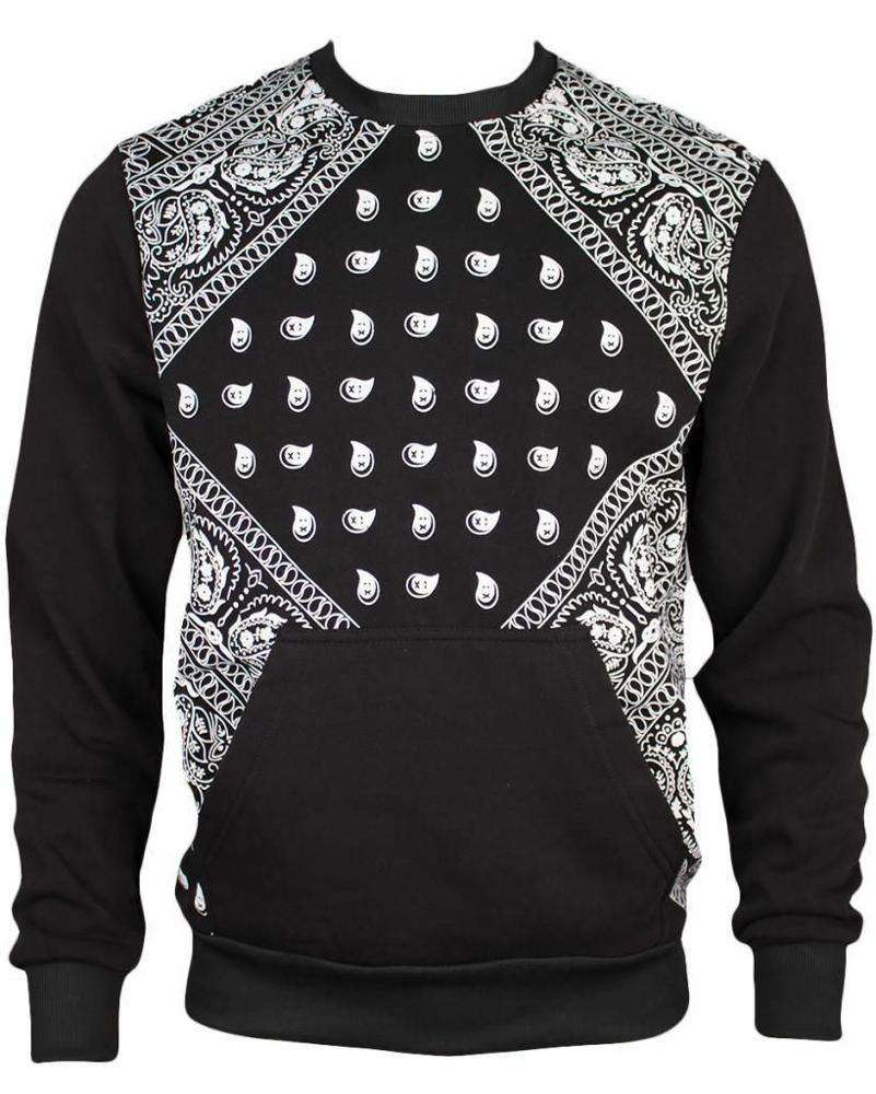 Hommes sweat imprimé bandana Polyester sweat-shirt en coton sweat-shirt à col rond