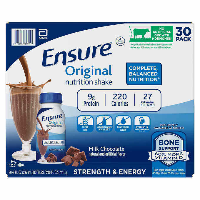 Ensure Original Nutrition Shake 8 fl.oz.30-pack, Chocolate,Vanilla