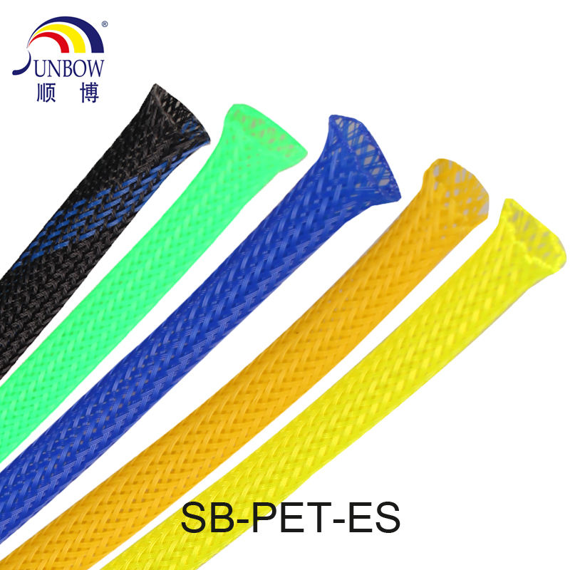Flame Retardant UV Resistant PET Braided Cable Sleeve