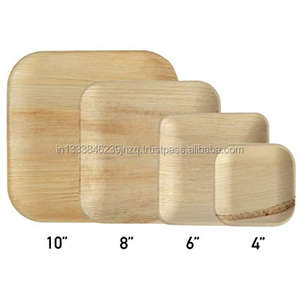 New arrival unbreakable Biodegradable and Disposable bamboo plates in 10 inch Square Areca Palm Leaf Plates for corporate events