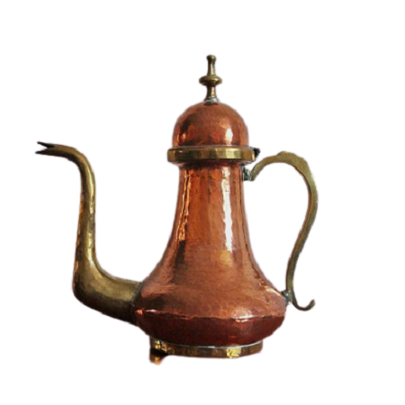Antique Copper Dallah Coffee pot for kitchen use