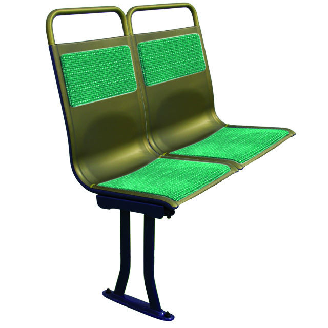 Top Quality in aluminium gold double luxury vip seat for bus