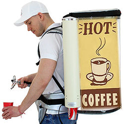 Backpack Coffee Dispensing System  for 19 Liter Beer Cola Coffee - vendor vending seller  hawker  mobile  portable