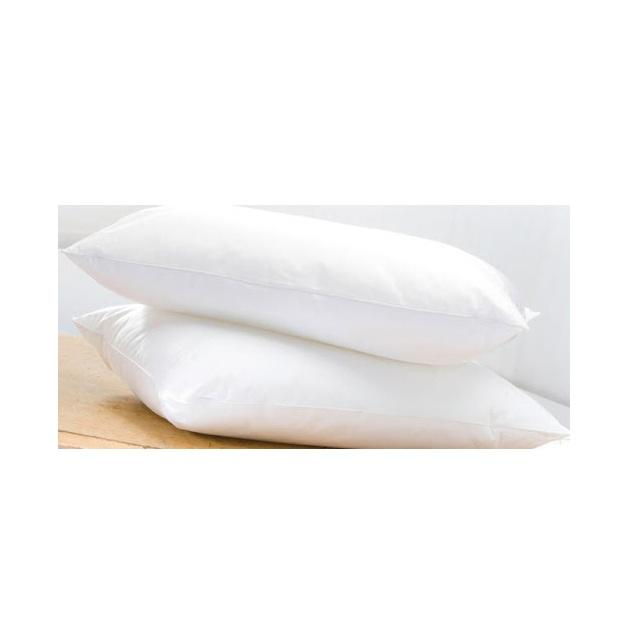 White Plain Fabric Filling Duck Feather Pillow For Hospital