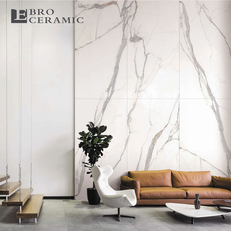 Big size Newest design high quality carrarra white marble large matte porcelain slabs floor tiles 900X1800mm 918CT13P