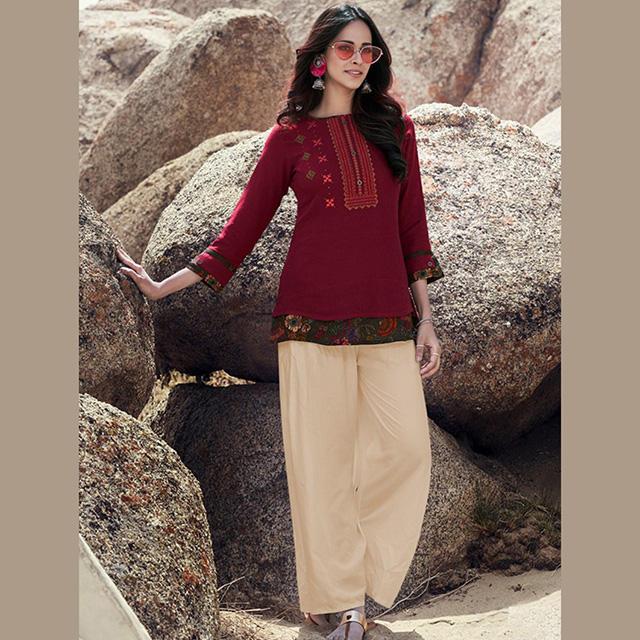 Abbigliamento Casual Ultime Designer Fancy Lavoro di Ricamo Rayon <span class=keywords><strong>Breve</strong></span> Supera Collezione