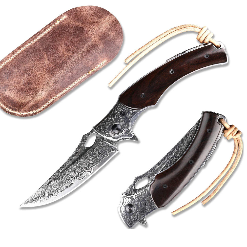 Wild Turkey Handmade Two Tone Karambit Style Spring Assisted Folding Knife.