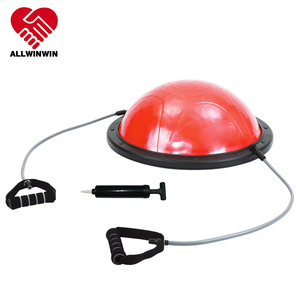 ALLWINWIN HBB01 Half Balance Ball - 59cm Resistance Tubing Pump Exercise Trainer Fitness