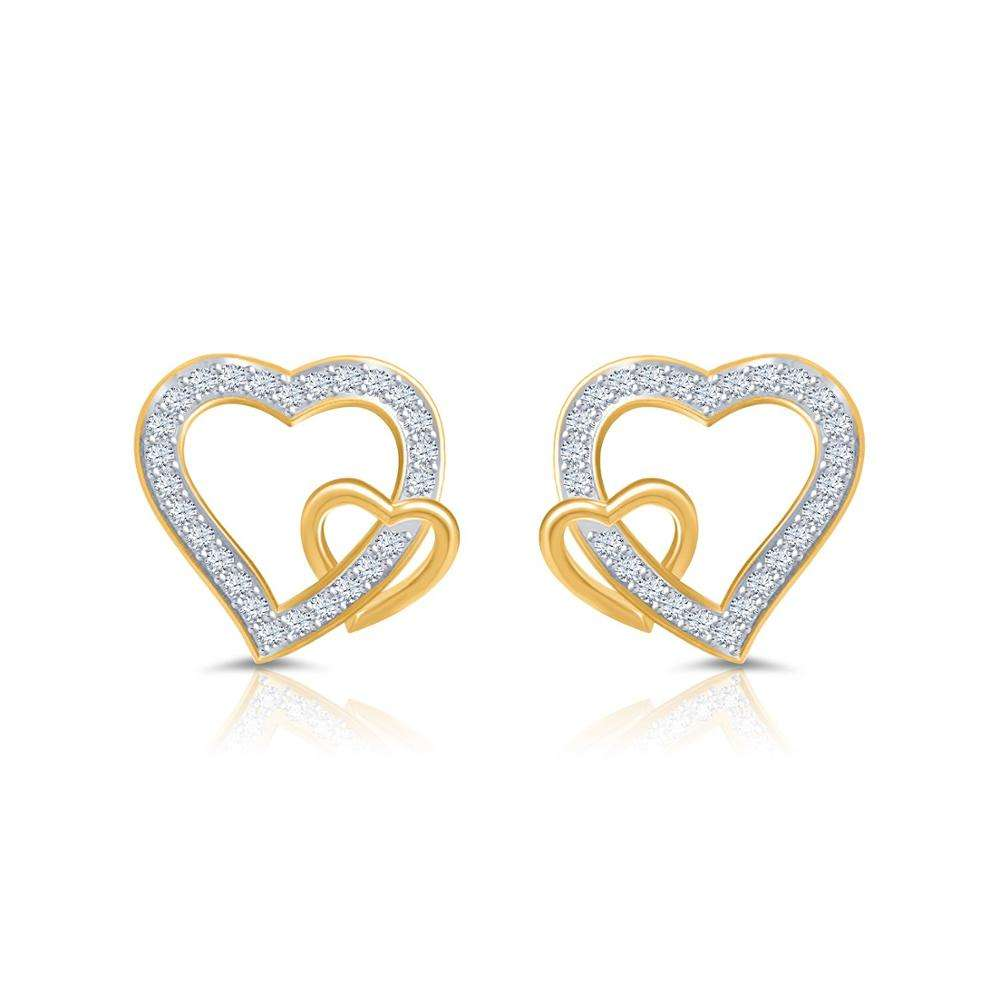 Pure Real Stud Earrings 18K Yellow Gold Jewelry 100% Natural and IGI Certified Real 0.26 Carats Diamonds Earrings for Women