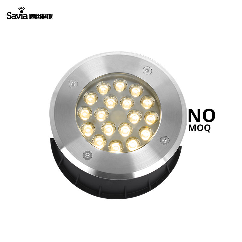 Savia 304 Stainless Steel 12V Round Submersible LED Underwater Light Pond Light 18W Lamp Waterproof IP68 Swimming Pool Light