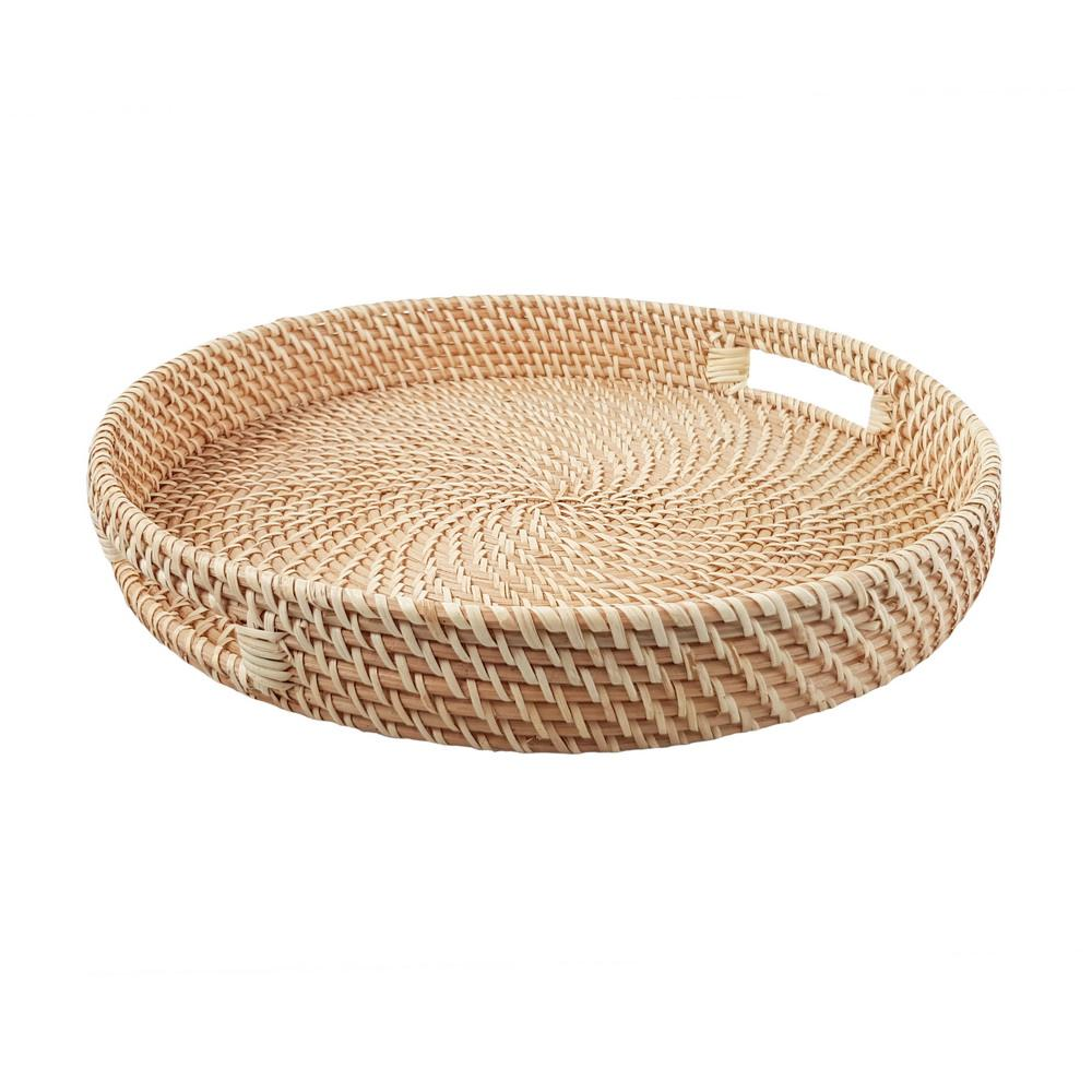 Rattan serving tray made in Vietnam and made by hand