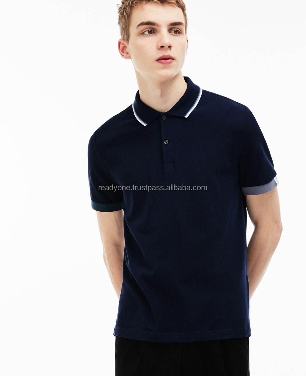 Men Classic Short Sleeve Solid Polo Shirt Men option blank stretch performance solid polo shirts