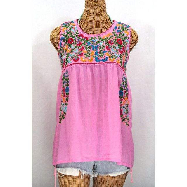 gypsy girls tops manufacturer 2019 sleeveless hand embroidery work cotton mexican blouse.