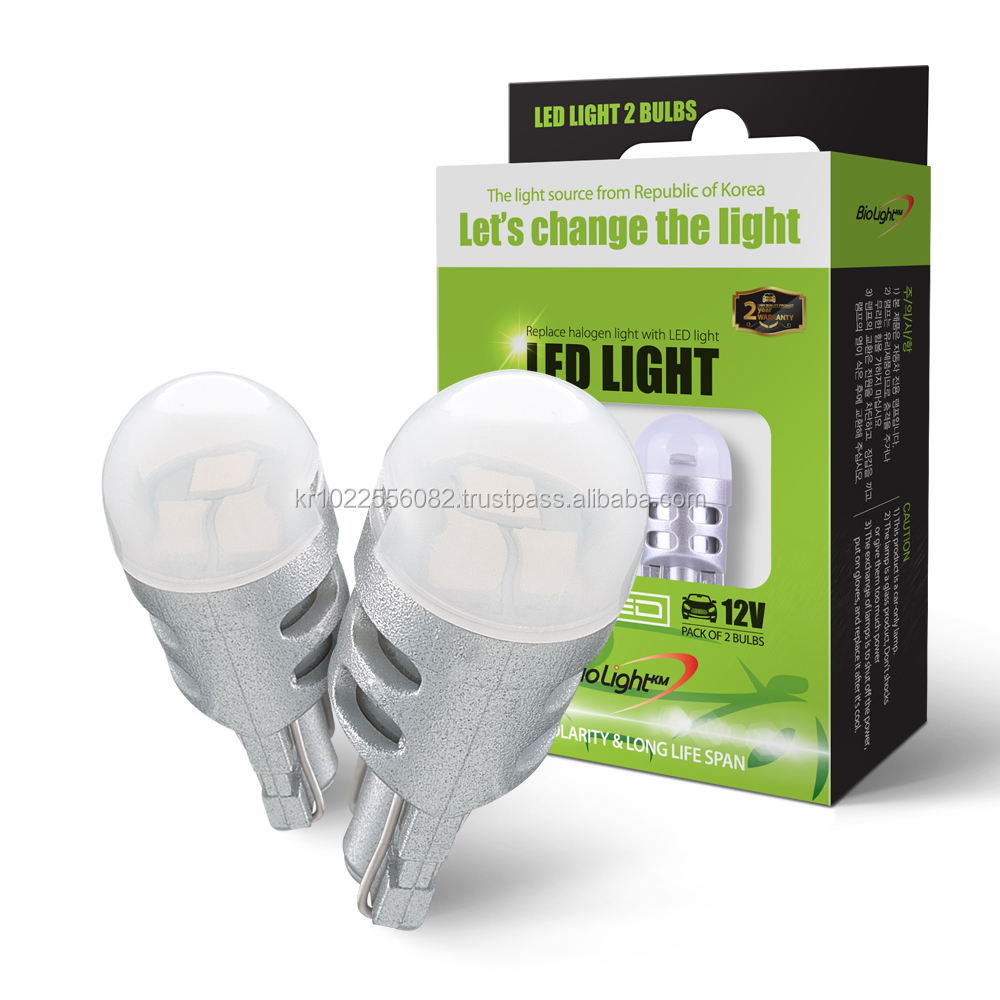 [BIOLIGHT] LED <span class=keywords><strong>T10</strong></span> 194 168 <span class=keywords><strong>W5W</strong></span> - EXTREAM BRIGHTNESS - Replacement für Car Interior Lights(Pack von 2)