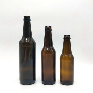 manufacturers wholesale borosilicate glass amber beer bottle
