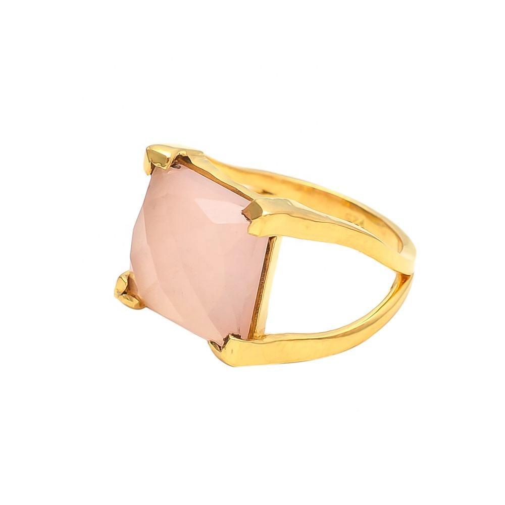Pink Chalcedony Sweet Gemstone Ring