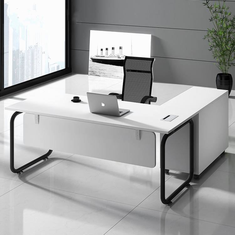 European Style Office Furniture Executive l shaped table For Manager