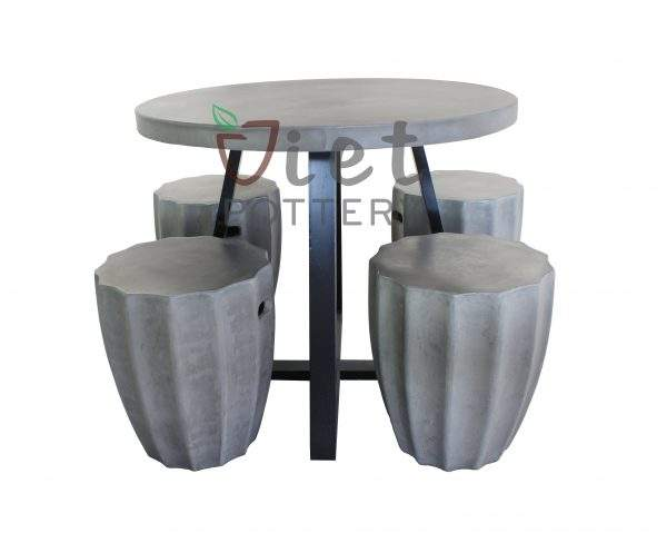 Concrete outdoor funiture side table for sale