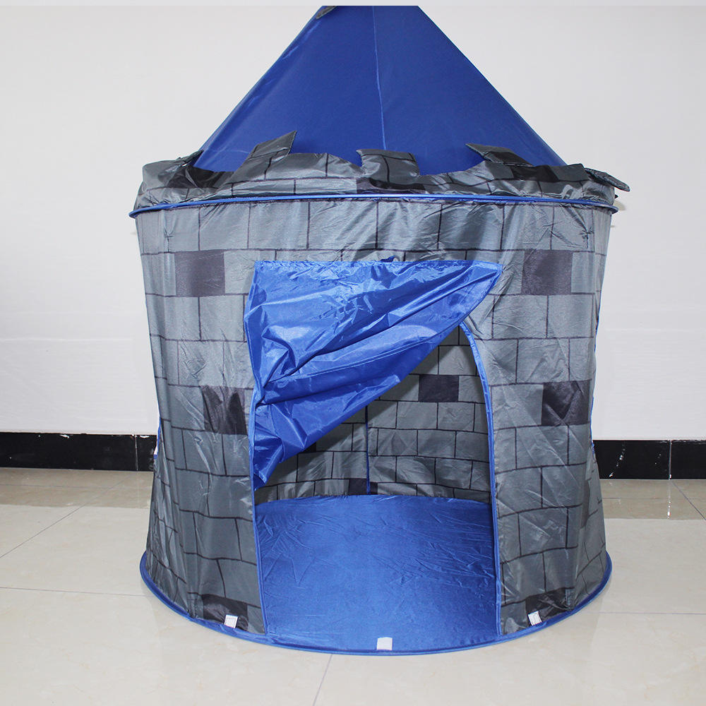 Kids play house castle tent
