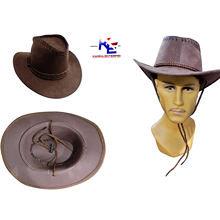 Majik Men Straw Cowboy Hat Outdoor Sun Protection Sun Hat for Costume Party and Travel Use Brown