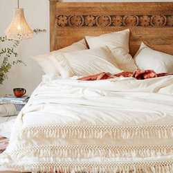 Boho Bedding 100% Cotton Exclusive Duvet Cover Cotton Fringe