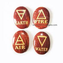 Red Jasper Engraved 4 Elements set : Wholesale pagan wiccan sets
