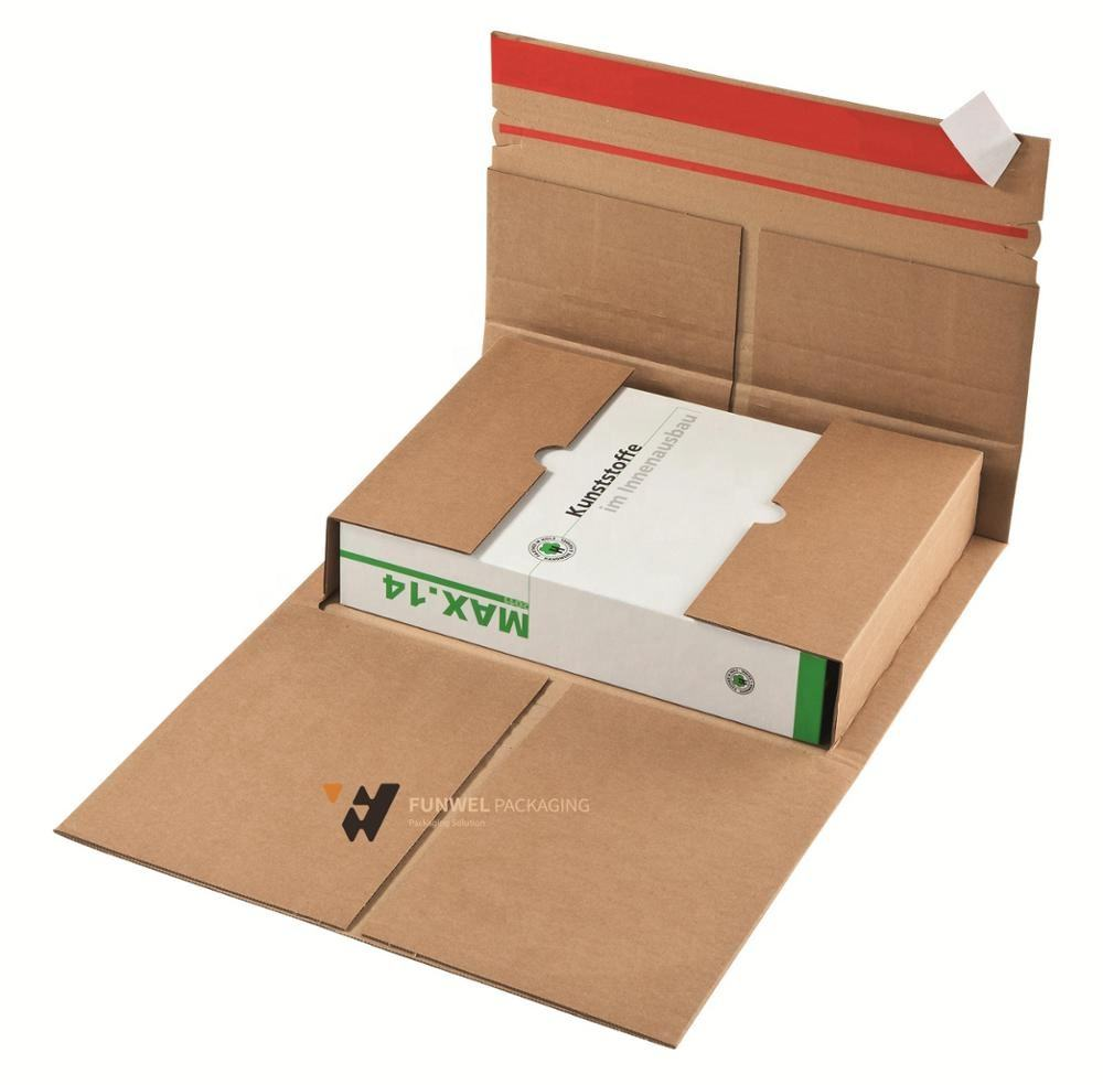 Book Mailing Boxes Shipping Packaging Ecommerce Packaging Box Flat Mailer