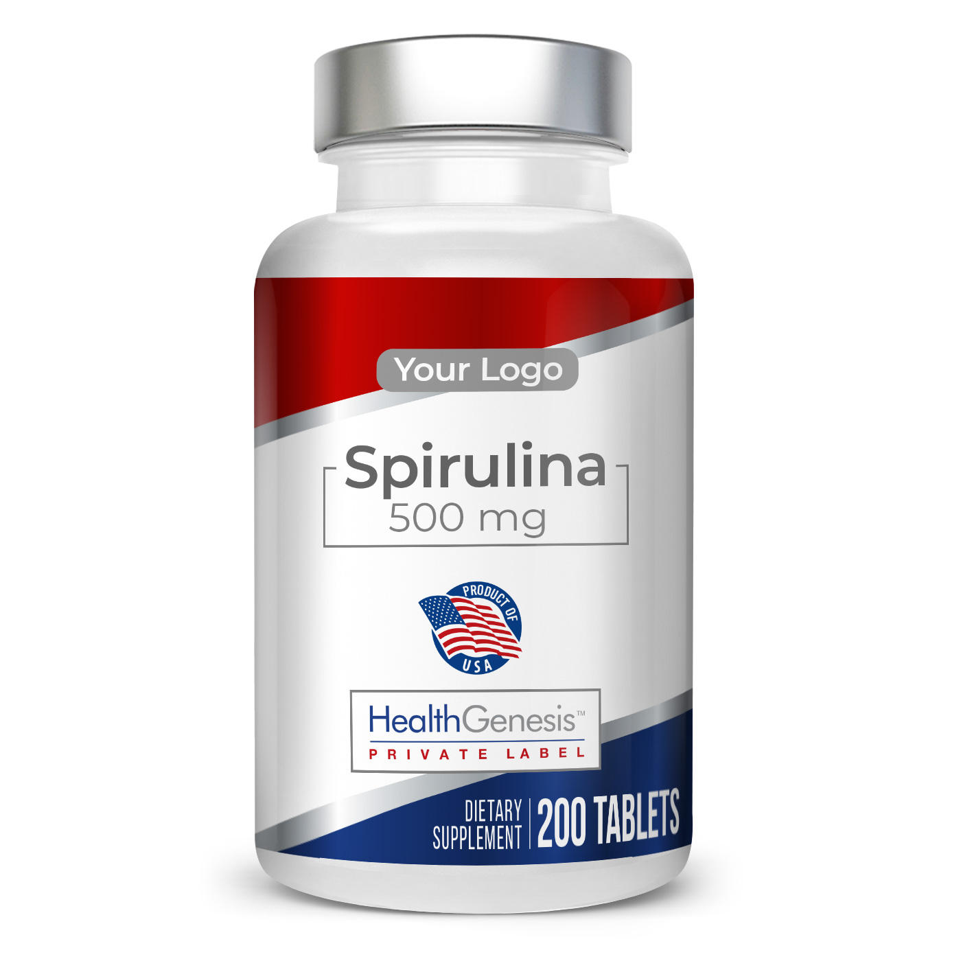 Private Label Spirulina 500 mg 200 Certified Organic Tablets Highest Quality All Natural Supplement Healthy Immune Energy Boost