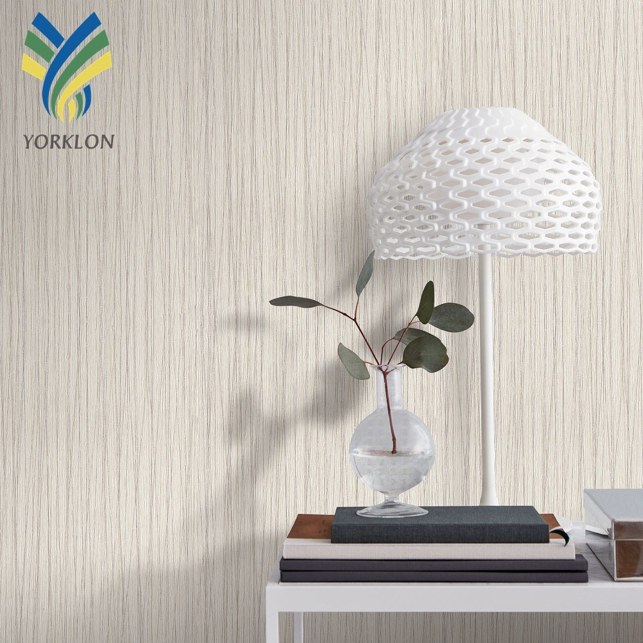 MWA 5 Fabric backed waterproof strip designs 3d wallpaper home decoration pvc textured roll vinyl wallpaper modern from room