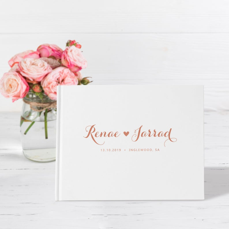 Rose Emas Hardcover Buku Tamu Pernikahan Alternatif Wedding Journal Buku Memori