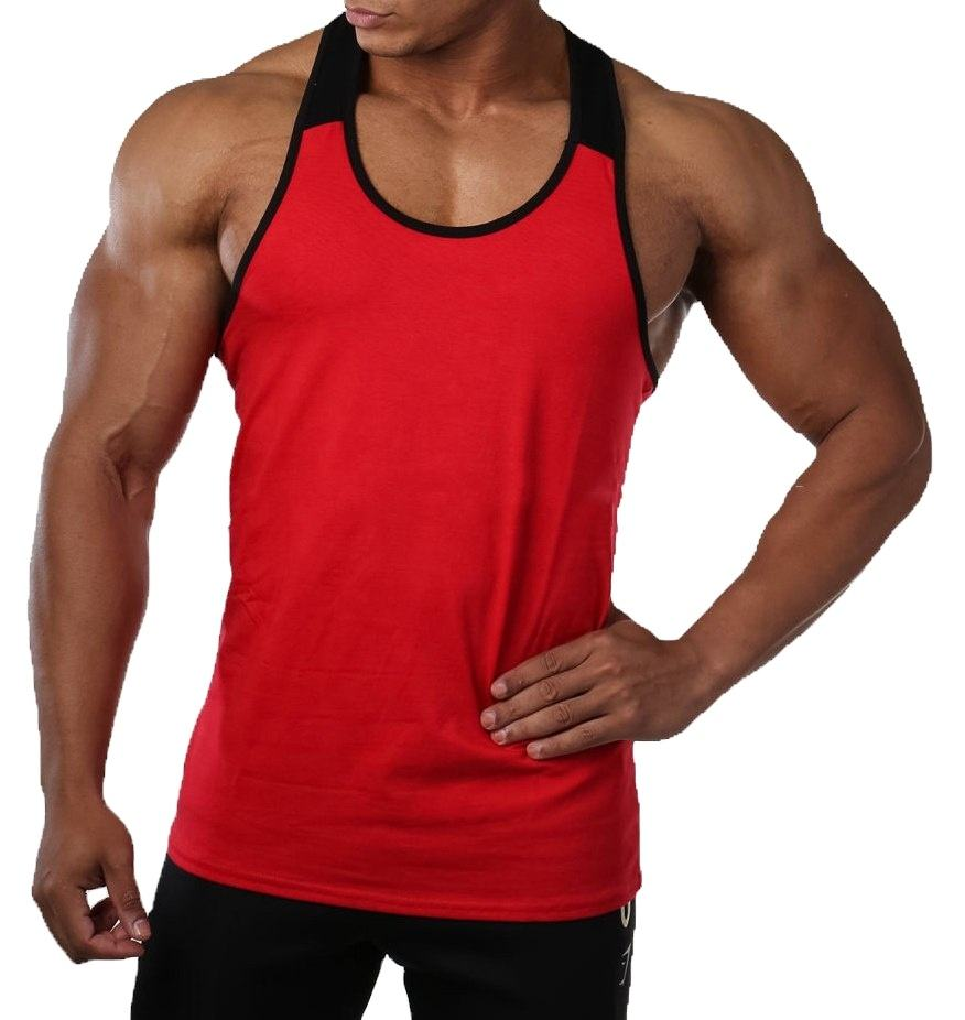 Hot selling Mens Gym Singlets Stripe Fitness Singlets Gym Stringer Mens Stringer Tank Tops Stringer Vest Tank Top Men Gym