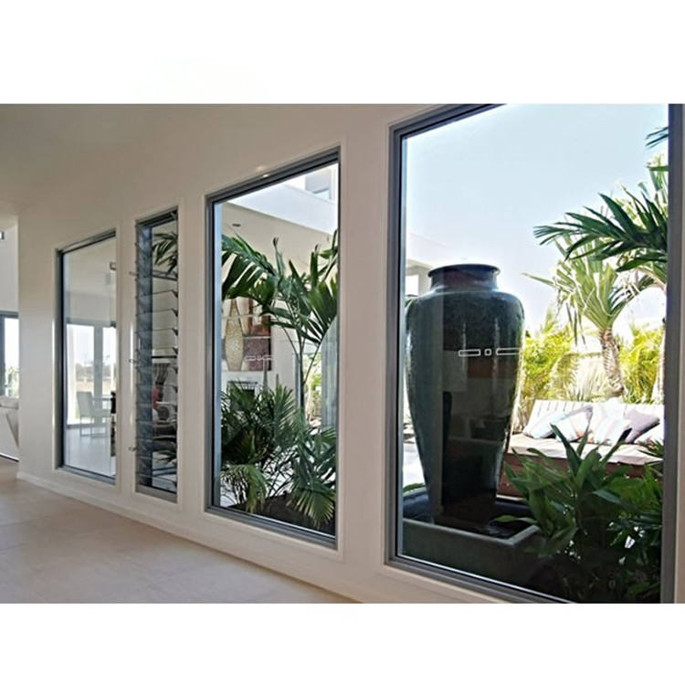 China Passive House Clear Tempered Safety Sliding Glass Window