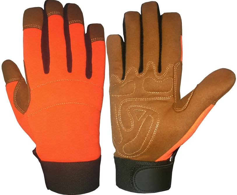 Low Prices Auto Mechanic Gloves / Synthetic Leather Gloves, Safety Gloves / Mechanical Gloves, Work Gloves
