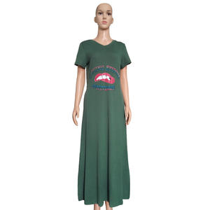 casual t shirt dress Summer Woman Slim Bodycon Tunic Maxi Tank Dress Sleeveless Solid Plain Stretchy Long Sundress