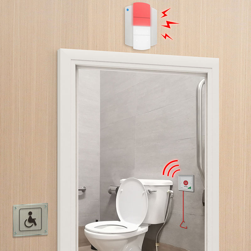 Emergency Potty Alarm For Hospitals, Elderly Homes, Hotels, Commercial Building & Anywhere An Accessible Toilet Is Needed