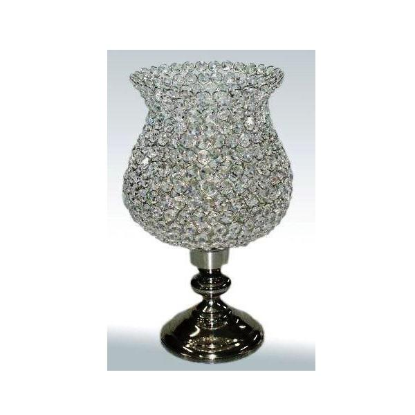 Crystal charm hurricane table t light lamp