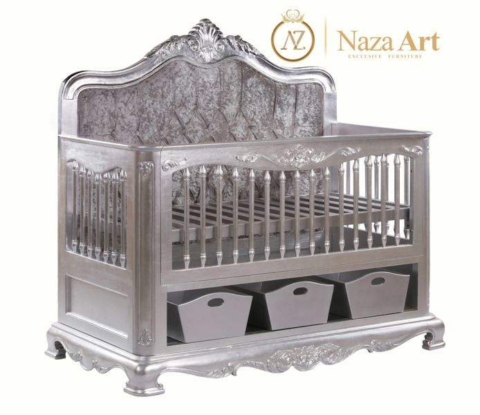 Hot Selling Adjustable Wooden Emperor Baby Cribs Baby Cot Baby Furniture