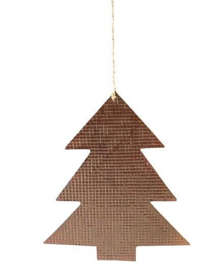 BROWN COLOUR DESIGN CHRISTMAS HANGING ORNAMENT TREE
