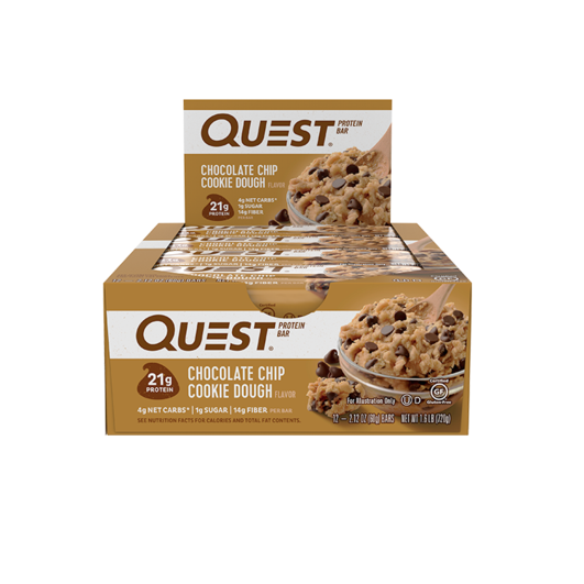 Quest Bar, Choc. Chip Cookie Dough, 12/box
