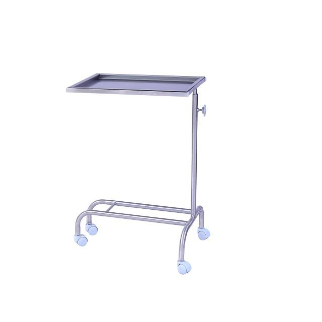 Premium High Quality Hospital Single Bar (SS) Mayo Trolley