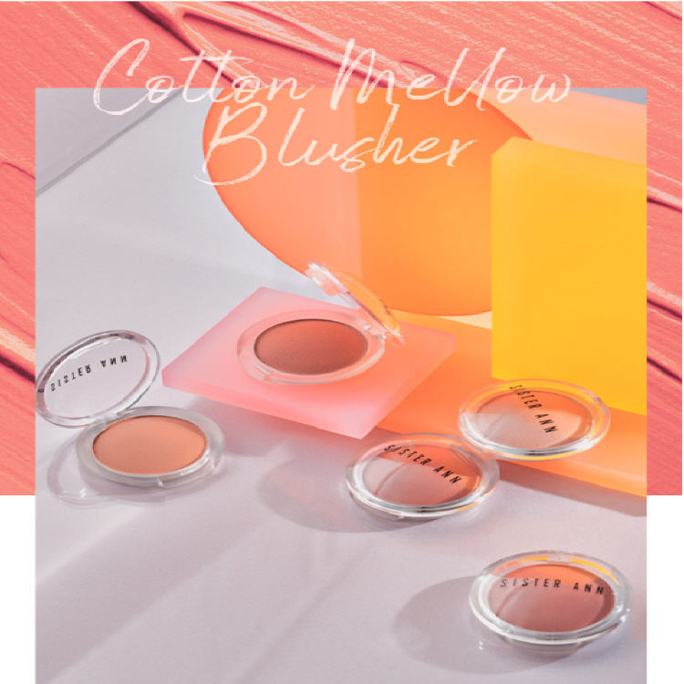 Best Selling Face Blusher with Korean cosmetics, Sister Ann Cotton Mellow Blusher, Korean Kbeauty best blusher