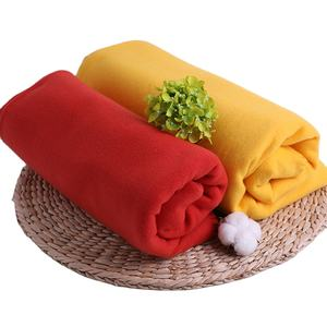 130X150CM solid color polar fleece blankets bulk wholesale promotional throw 100% polyester super soft cheap fleece blanket