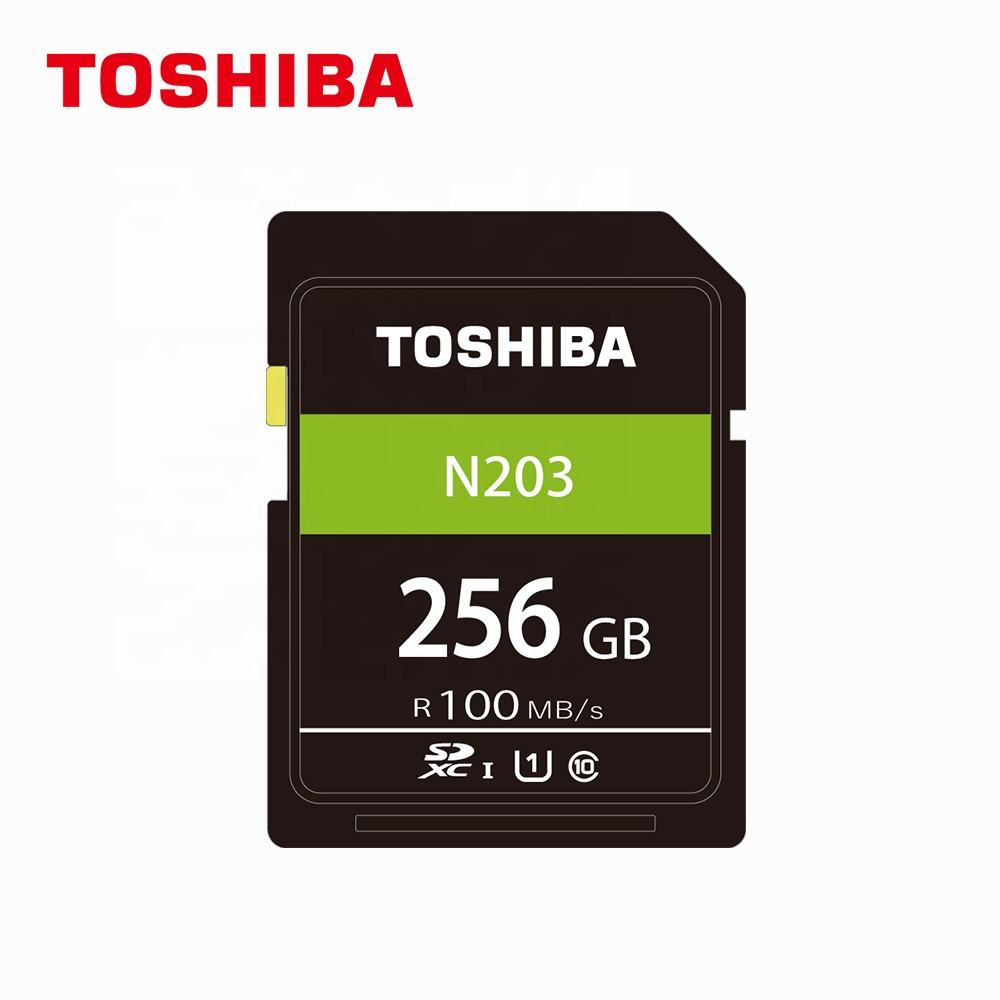 Wholesale price new item top quality TOSHIBA normal SD card N203 256GB U1 Read 100MB/s class 10 memory card