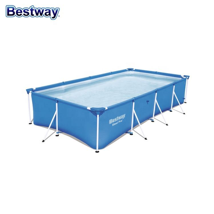 2020 Bestway hot new rectangular inflatable swimming pool with support frame