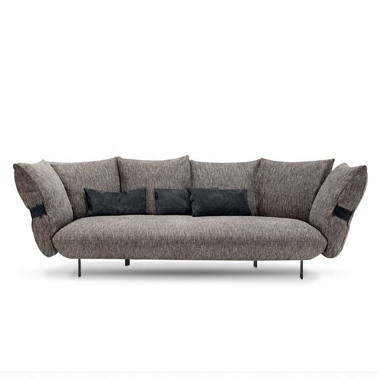 Fabric sofa smooth operator perfect comfortable design living room sofa furniture 4 seaters