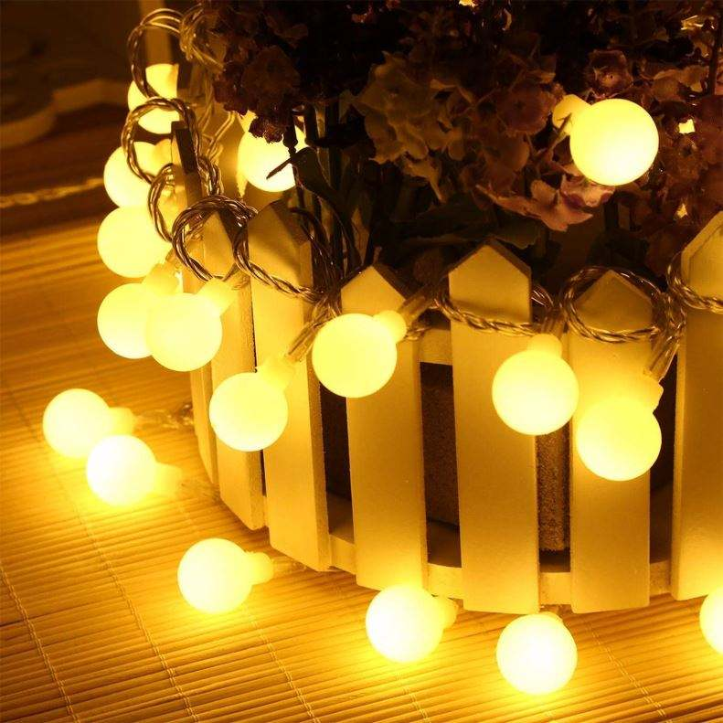 Wholesale Newly Hot Colorful Sky Stars lighting Lamp LED Round Small Ball Christmas Light String Fairy Light
